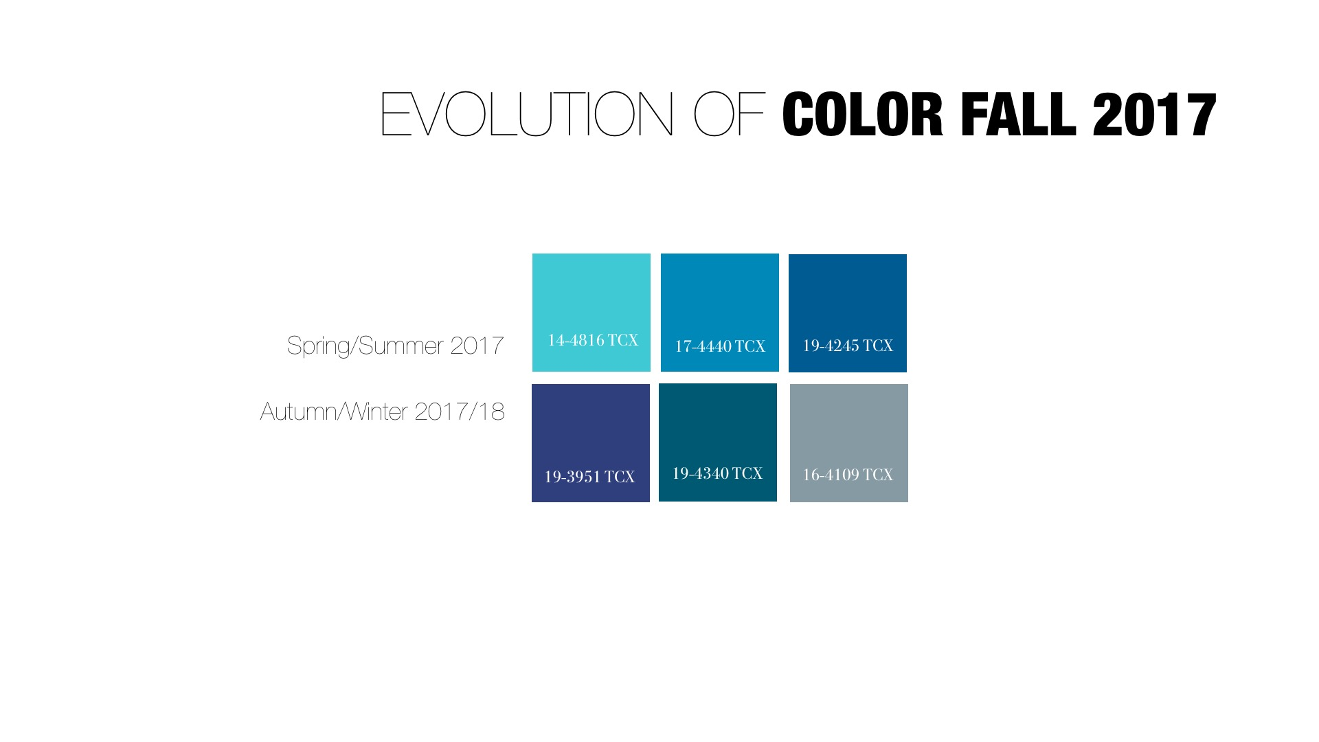 The Evolution of Color for Fall/Winter 2017/18 - Crafting with Joy